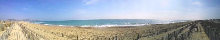 la plage de sable de Sète