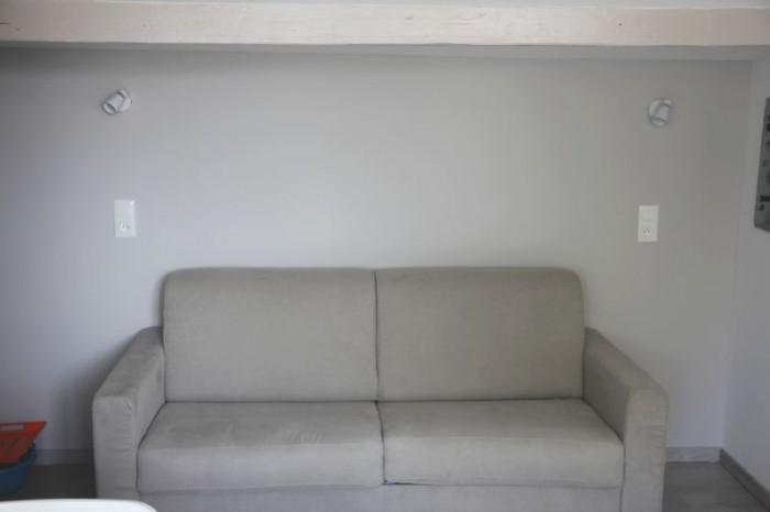 Canapé lit de type rapido location de vacances dans l'Hérault